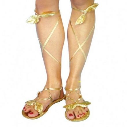 Roman, Goddess Golden Sandals